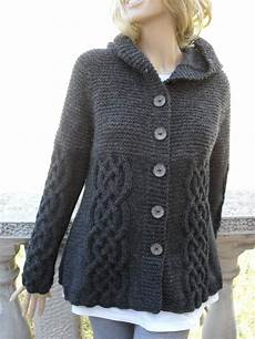 stricken pullunder knit sweater womens cable knit jacket cardigan grey