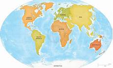 Continent World Map Vector Map Of World Continents Graphics Creative Market