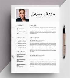 Cv Templates For Microsoft Word Professional Resume Template Cv Template Editable In Ms