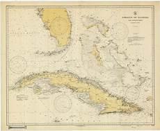 Great Straits Chart Straits Of Florida Historical Map 1928 Nautical Chart