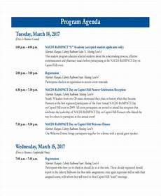 Sample Of Program Agenda Free 22 Event Agenda Examples Amp Samples In Pdf Doc