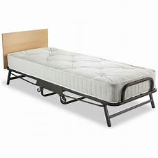 buy be folding single bed with sprung mattress at