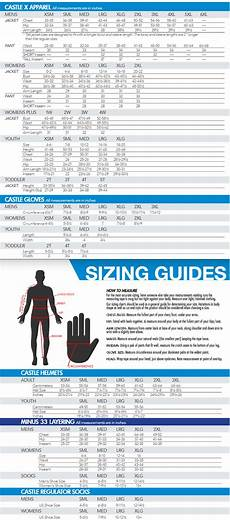 And Size Chart Sizing Charts Desktop Castle X Snow And Motorcycle Apparel