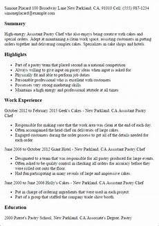 Pastry Chef Resume Example Assistant Pastry Chef Resume Template Best Design Amp Tips