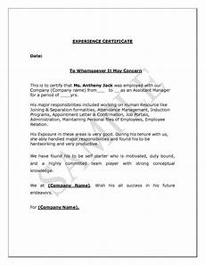 Social Service Certificate Format Experience Letter Format Supervisor Copy Experience