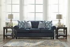 lavernia navy sofa loveseat accent chair coralayne