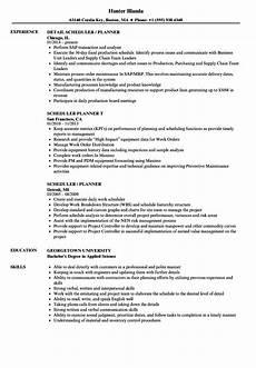 Medical Scheduler Resume Scheduler Planner Resume Samples Velvet Jobs