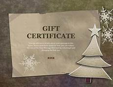 Gift Certificate Paper 10 Printable Free Christmas Gift Certificates