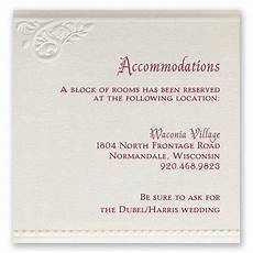 How To Word Hotel Accommodations For Wedding Invitations Pearls And Lace Accommodations Card Invitations By Dawn