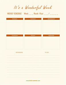 Scheduling Planner Weekly Schedule Planner Templates Word Excel Pdf