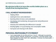 Examples Of Personal Mission Statements For Career Mission Statement Leadership Quotes Quotesgram