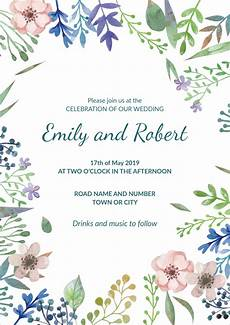 Free Editable Invitation Templates 30 Free Wedding Invitation Template Cards Printable And