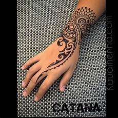 Tribal Designs For Women S Hands Polynesian Inspired Jagua Body Art By Catana On