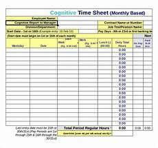 Microsoft Excel Time Sheet Template 25 Excel Timesheet Templates Free Sample Example