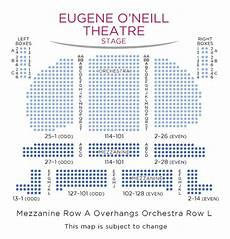Seating Chart Eugene O Neill Theatre Eugene O Neill Theatre 187 Nyc Events