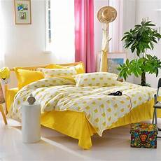 design yellow bed sheet crown printed duvet cover