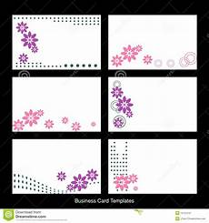 Card Templetes Business Card Templates Stock Vector Illustration Of