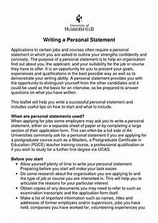 Writing A Personal Statement For A Cv How To Start Writing A Personal Statement For A Job How