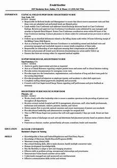 Nursing Supervisor Job Description Registered Nurse Nurse Supervisor Resume Samples