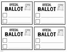 Voting Ballot Template For Word Election Day The Teacher Bag