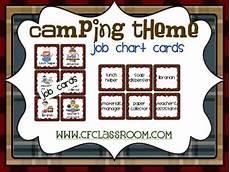 Camping Jobs Camping Theme Job Chart Classroom Theme Printables By