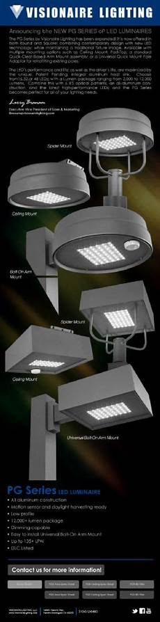 Visionaire Lighting Announcing The New Pg Series Of Led Luminaires