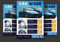 Car Wash Pictures For Flyer Car Wash Flyer Flyer Templates Creative Market