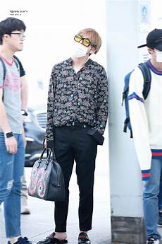 bts v spotted looking exhausted at in incheon airport