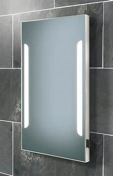 Bathroom Mirror Cabinet With Battery Lights Hib Zenith Back Lit Steam Free Mirror With Shaver Socket
