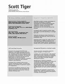 Creative Programmer Resume 30 Simple Resume Design Ideas That Work