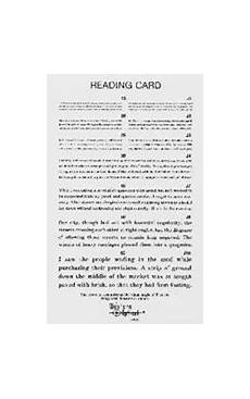 Jaeger Reading Test Chart Jaeger Reading Card