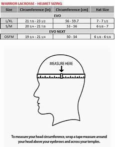 Youth Hockey Helmet Size Chart Warrior Lacrosse Helmet Size Chart Warrior
