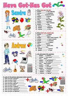 have got has got worksheet free esl printable worksheets