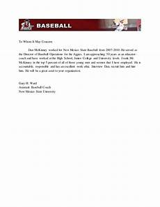 baseball letter of recommendation gary ward recommendation letter