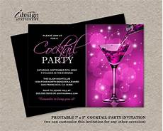 Cocktail Party Invitation Printable Cocktail Party Invitation For Birthday Party Girls