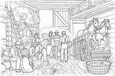 bauern in farm ausmalbild malvorlage bauernhof