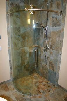 3 4 Bathroom Designs Small Master With Curved 3 4 Round Shower Contemporary
