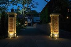 House Of Stone And Light Driveway Brick Lights Google Search Brick Columns