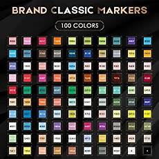 Caliart Markers 100 Color Chart Amazon Com Caliart 100 Colors Artist Alcohol Markers Dual