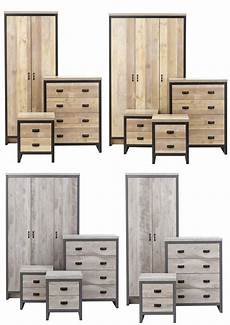 boston grey or oak 3 or 4 bedroom sets wardrobe