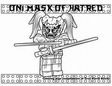 coloring page oni mask of hatred oni mask lego