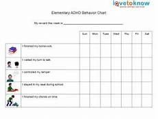 Behavior Charts For Elementary Students Adhd Behavior Charts Lovetoknow