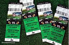 Ticket Invite Template Free Football Ticket Invitations Printable Everyday Dishes Amp Diy