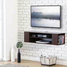 wall mount tv stand floating media console storage