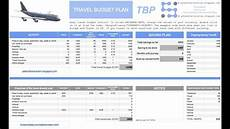 Travel Budget Spreadsheet Travel Budget Plan Youtube