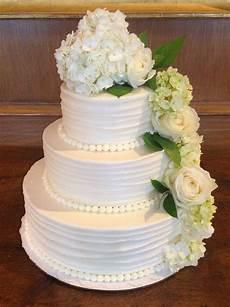 simple elegant wedding cake w flowers weddings