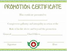 Officer Promotion Certificate Template Army Officer Promotion Certificate Template Certificate
