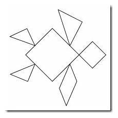 Tangram Kinder Malvorlagen Easy Preschool Alphabet Tangrams