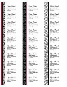 Free 5160 Label Template Return Address Label Template Avery 5160 Top Label Maker