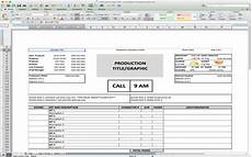 Call Sheet Template Excel 5 Useful Microsoft Excel Templates For Indie Film Tv